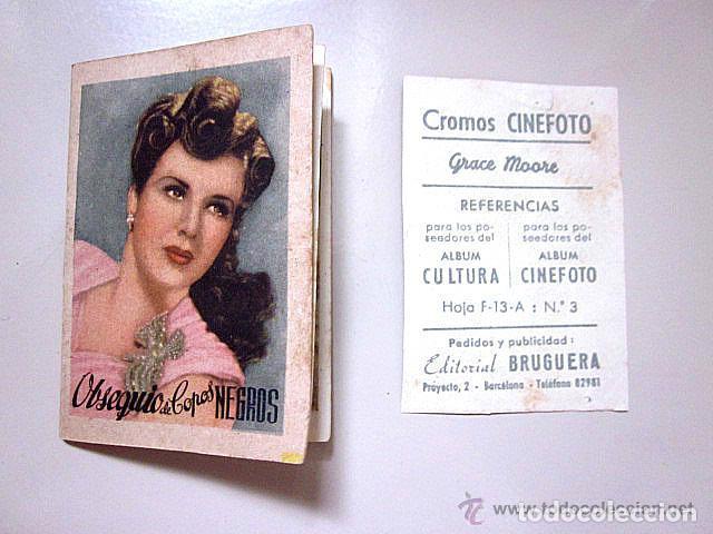 Cine: Catálogo original Copos Negros Perfume.1º Serie Artistas Cinema.1947.Cromo Cinefoto Bruguera 1940. - Foto 4 - 61826452