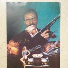 Cinema: MINI-POSTER ORIGINAL 13*18 - TRAMPA A MR. FOX - FOXTRAP - BLAXPLOITATION - FRED WILLIAMSON. Lote 62295364