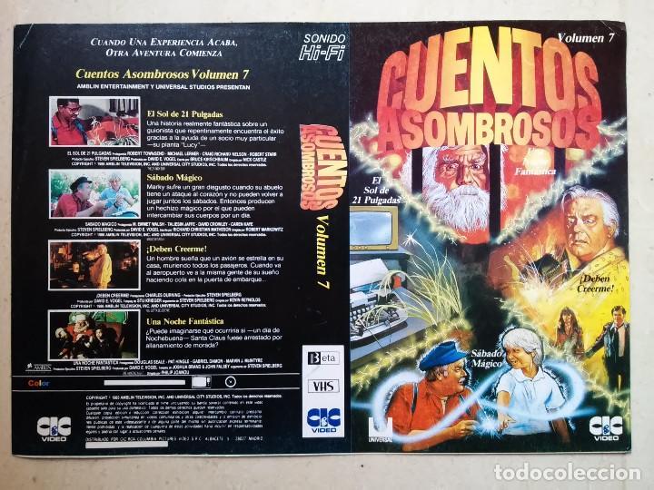 CARATULA ORIGINAL -A4- CUENTOS ASOMBROSOS 7 - TERROR - CIENCIA FICCION - STEVEN SPIELBERG (Cine - Varios)