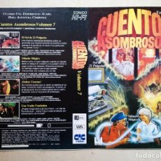 Cinema: CARATULA ORIGINAL -A4- CUENTOS ASOMBROSOS 7 - TERROR - CIENCIA FICCION - STEVEN SPIELBERG. Lote 104073570