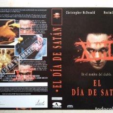 Cine: CARATULA ORIGINAL -A4- EL DIA DE SATAN - TERROR - CHRISTOPHER MCDONALD MAXIMILIAN SCHELL. Lote 64065467