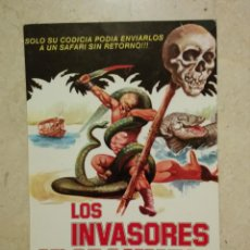 Cine: MINI-POSTER ORIGINAL 13*18 - LOS INVASORES DEL ORO PERDIDO - AVENTURAS - LAURA GEMSER. Lote 64637787