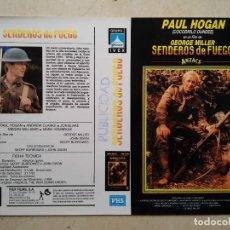 Cine: CARATULA ORIGINAL -A4- SENDEROS DE FUEGO - GUERRA - BELICO - PAUL HOGAN. Lote 66501614