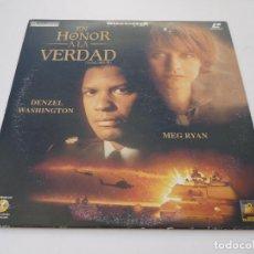 Cine: LASER DISC EN HONOR A LA VERDAD, CON DENZEL WASHINGTON Y MEG RYAN. GUERRA DEL GOLFO. LASERDISC. Lote 67330193