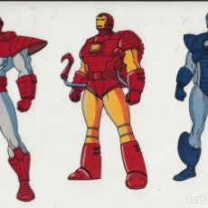 Cine: MARVEL ACTION HOUR - PROMOTIONAL ANIMATION CELL - IRON MAN ARMORS (20TH CENTURY FOX,1994). Lote 67687505