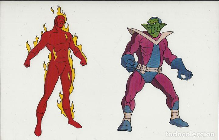 MARVEL ACTION HOUR - PROMOTIONAL ANIMATION CELL - 4F - HUMAN TORCH - SKRULL (20TH CENTURY FOX,1994) (Cine - Varios)