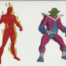 Cine: MARVEL ACTION HOUR - PROMOTIONAL ANIMATION CELL - 4F - HUMAN TORCH - SKRULL (20TH CENTURY FOX,1994). Lote 67687725