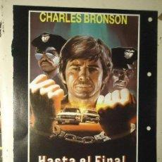 Cine: COLECCIONISTAS DE CINE CARTEL HOJA PUBLICACION REVISTA. PELICULA - HASTA EL FINAL , CHARLES BRONSON. Lote 67858609