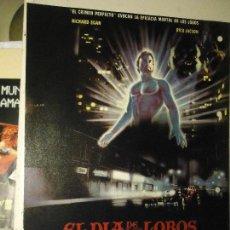 Cine: COLECCIONISTAS DE CINE CARTEL HOJA PUBLICACION REVISTA. PELICULA - EL DIA DE LOS LOBOS. Lote 67858741