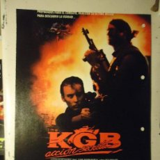 Cine: COLECCIONISTAS DE CINE CARTEL HOJA PUBLICACION REVISTA. PELICULA - KGB ACCION SECRETA. Lote 67858853