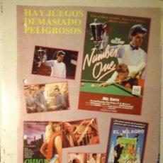 Cine: COLECCIONISTAS DE CINE CARTEL HOJA PUBLICACION REVISTA. PELICULA - NUMBER ONE CHICAS DE NEW YORK ... Lote 67859029