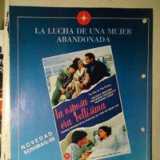 Cine: COLECCIONISTAS DE CINE CARTEL HOJA PUBLICACION REVISTA. PELICULA - LA ESPOSA ERA BELLISIMA. Lote 67859193