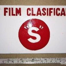 Cine: CARTELA DE PLASTICO - UN FILM CLASIFICADO S. Lote 68346609