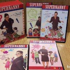 Cine: SUPERNANNY. PACK 4 DVD'S CATALÀ-ANGLÉS. EDITA. ENCICLOPÈDIA CATALANA / DE LUXE.. Lote 69318157