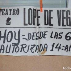 Cine: CARTEL TEATRO ANUNCIANDO FECHA Y HORA DE LA ACTUACION. Lote 72401919