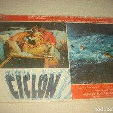 Cine: CARTELERA DE LA PELICULA CICLON . 29 X 39 CM. DURA. Lote 73439243