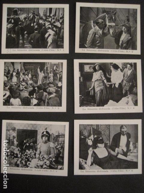 Cine: LA AMAZONA DISFRAZADA - CELIO FILM -COLEC.COMPLETA 6 FOTOTIPIAS -MED 7X9 CM-VER FOTOS - (V-8471) - Foto 2 - 74067471