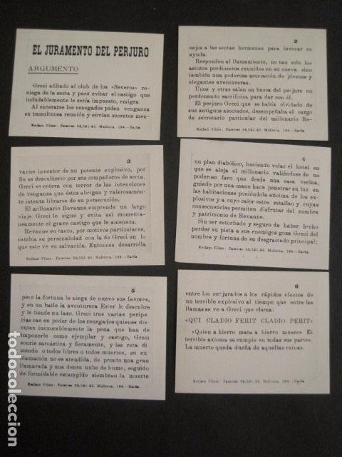 Cine: EL PERJURO - LLATJOS PRUNES -COLEC.COMPLETA 6 FOTOTIPIAS -MED 7X9 CM-VER FOTOS - (V-8472) - Foto 3 - 74067643