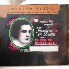Cine: CLICHÉ DE CRISTAL PELICULA EL FIN DE MONTECARLO AÑO 1926 CLIXÉS ARTISTICOS SYSTEM STUDIO BARCELONA. Lote 78312693