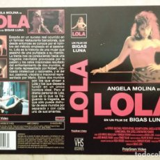 Cine: CARATULA ORIGINAL -A4- LOLA - ANGELA MOLINA - CINE ESPAÑOL - BIGAS LUNA. Lote 78479365