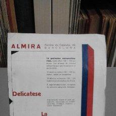 Cine: PROGRAMA TEMPORADA 1930 1931, ALMIRA (BARCELONA). CON CURIOSA PUBLICIDAD EN EL INTERIOR. Lote 78630973