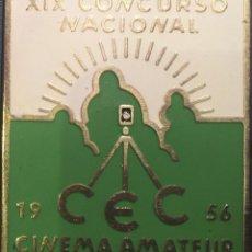 Cine: PLACA XIX CONCURSO NACIONAL DE CINEMA AMATEUR 1956. Lote 83374128