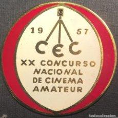 Cine: PLACA XX CONCURSO NACIONAL DE CINEMA AMATEUR 1957. Lote 83374236