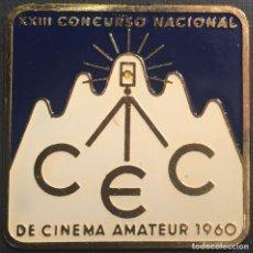 Cine: PLACA XXIII CONCURSO NACIONAL DE CINEMA AMATEUR 1960. Lote 83394604