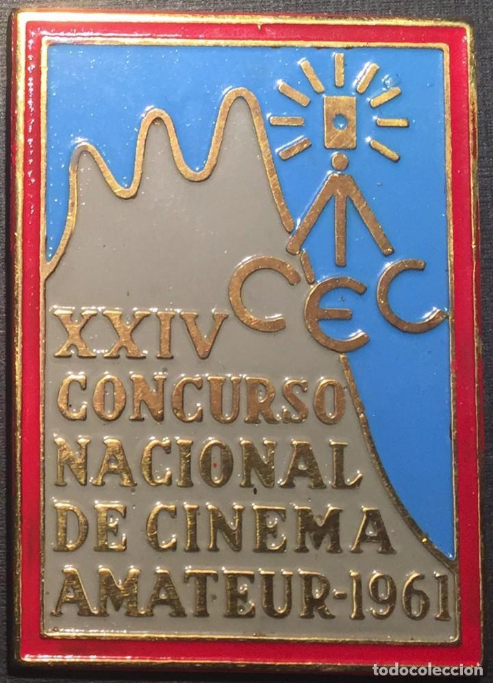 PLACA XXIV CONCURSO NACIONAL DE CINEMA AMATEUR 1961 (Cine - Varios)
