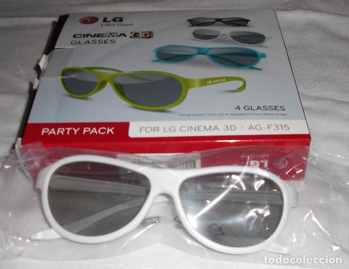 gafas 3D LG AG-F315 lote de 4 gafas varios colores sin uso, usado segunda mano
