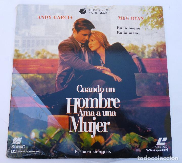 LASER DISC CUANDO UN HOMBRE AMA A UNA MUJER, CON ANDY GARCÍA Y MEG RYAN, DRAMA, ROMANCE. LASERDISC (Cine - Varios)