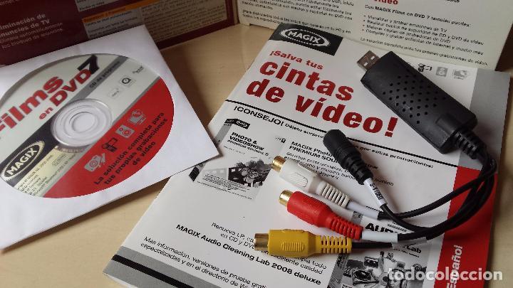 Cine: SOFTWARE DE GRABACION DE VIDEO (MAGIX).TODOS LOS FORMATOS DE VIDEO (VHS,BETAMAX,VIDEO 8, ETC) A DVD - Foto 4 - 83926256