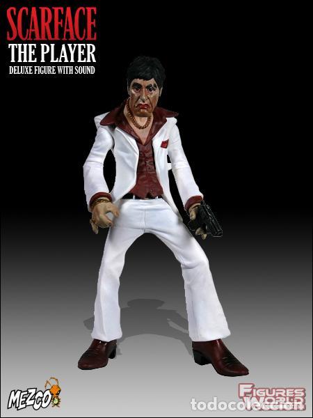 Cine: FIGURA DELUXE SCARFACE * Al Pacino / Tony Montana * Sonido: 9 frases! * Nueva en caja * Ultrarare - Foto 2 - 84599292