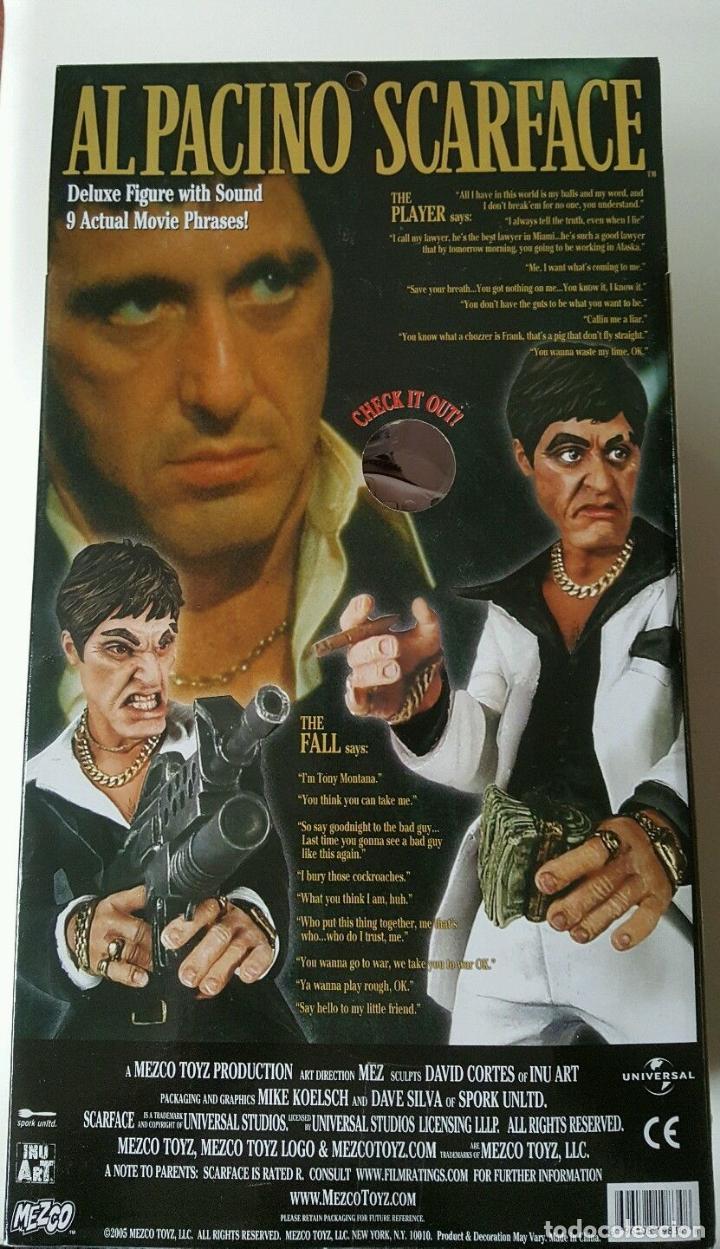 Cine: FIGURA DELUXE SCARFACE * Al Pacino / Tony Montana * Sonido: 9 frases! * Nueva en caja * Ultrarare - Foto 15 - 84599292