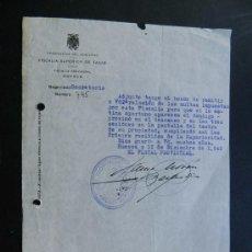 Cine: CINE / PUBLICIDAD EN CINES DE LAS MULTAS IMPUESTAS / FISCALIA SUPERIOR DE TASAS / HUESCA 1940. Lote 85050412