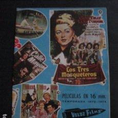 Cine: CATALOGO PELICULAS - VELOZ FILMS - AÑO 1973-74 -VER FOTOS-(V-11.227). Lote 87373996