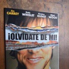 Cine: OLVIDATE DE MI, JIM CARREY, KATE WINSLET. Lote 89475772