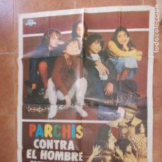 Cine: POSTER ORIGINAL PELICULA PARCHIS CONTRA EL HOMBRE( ESTUVO EXPUESTO EN EL CINE MORENO DE CONIL CADIZ). Lote 91072470