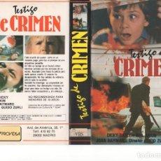 Cinema: CARATULA ORIGINAL - TESTIGO DE CRIMEN. Lote 91299070