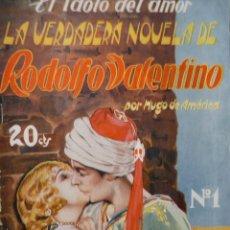 Cine: REVISTA LA VERDADERA NOVELA DE RODOLFO VALENTINO. AÑOS 20. Lote 196992047