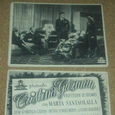 Cine: CRISTINA GUZMAN PROFESORA IDIOMAS, 1943, COL.DE 22 CARTELERAS ORIGINALES EN MUY BUEN ESTADO. Lote 93062435
