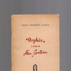 Cinema: ORPHÉE Y EL CINE DE JEAN COCTEAU - CARLOS FERNANDEZ - CINECLUB PAMPLONA 1952 / CON FOTOS. Lote 94157120