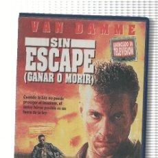 Cine: VHS-CINE: SIN ESCAPE - JEAN-CLAUDE VAN DAMME. Lote 74689085