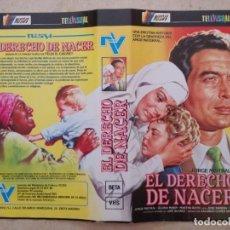 Cine: CARATULA ORIGINAL -A4- EL DERECHO DE NACER - CINE MEXICANO - JORGE MISTRAL - MEJICANO. Lote 95096891
