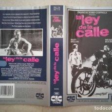 Cinema: CARATULA ORIGINAL -A4- LA LEY DE LA CALLE - ARCHIVO MICKEY ROURKE - MATT DILLON. Lote 95171199