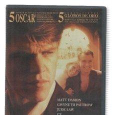 Cine: VHS-CINE: EL TALENTO DE MR. RIPLEY - MATT DAMON, CATE BLANCHETT (LAUREN FILMS 2000). Lote 95734583