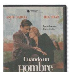 Cine: VHS-CINE: CUANDO UN HOMBRE AMA A UNA MUJER - ANDY GARCIA, MEG RYAN (TOUCHSTONE 1995). Lote 95737572