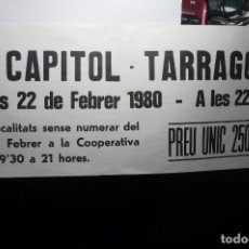 Cine: CARTEL 20X70 CINE CAPITOL TARRAGONA -EN CATALAN --BB . Lote 98622659
