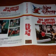 Cinema: CARATULA VHS- LOS PERROS DE MI MUJER- WALT DISNEY. Lote 98693866
