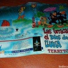 Cinema: CARATULA VHS- LA HURRACA Y EL DIOS DE LA LLUVIA- TERRYTOONS. Lote 99183970